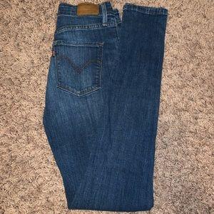 levi skinny high rise jeans